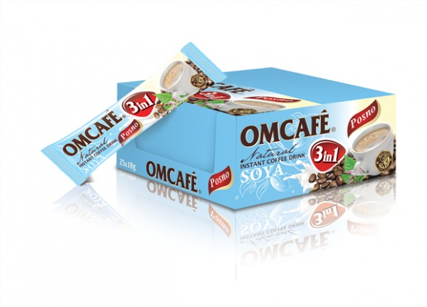 OMCAFÉ 3 in 1 Soya Natural
